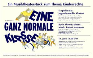 """Musiktheaterstück """"Eine ganz normale Klasse"""" – unterhaltsam, kurzweilig, witzig! in der Aula der Grundschule am Rüdesheimer Platz @ Aula der Grundschule am Rüdesheimer Platz"""