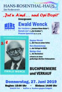 Erinnerungen an Ewald Wenck @ Hans-Rosenthal-Haus