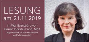 """Krimi-Lesung """"RaubLust"""" mit der Autorin Susanne Rüster @ Bürgerbüro Florian Dörstelmann"""