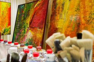 Kunst auf vier Etagen... @ Offene Ateliers