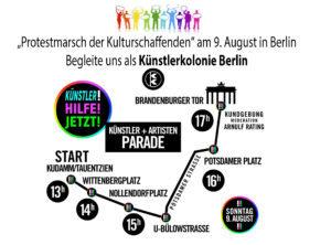 Protestmarsch der Kulturschaffenden in Berlin @ Brandenburger Tor