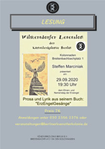 Wilmersdorfer Lesesalon in der Künstlerkolonie Berlin @ KulturRaum der Künstlerkolonie Berlin