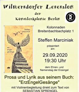 Wilmersdorfer Lesesalon @ KulturRaum in der Künstlerkolonie Berlin
