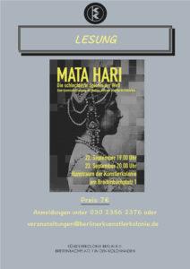 Lesung - Mata Hari @ KulturRaum der Künstlerkolonie Berlin