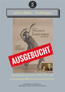 Alfred Döblin - Erzählungen @ KulturRaum der Künstlerkolonie Berlin