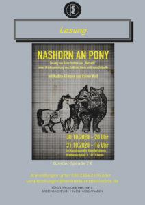 NASHORN AN PONY @ KulturRaum in der Künstlerkolonie