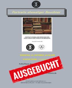 Literarischer Lesesalon 2020 @ Geschäftsstelle der Gesellschaft für Christlich-Jüdische Zusammenarbeit in Berlin e.V.