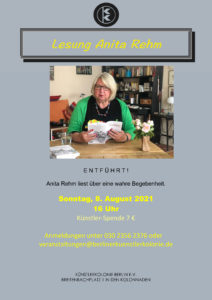 Lesung Anita Rehm @ KunstRaum der Künstlerkolonie Berlin