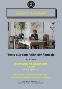 Sigrun's Lesetreff - Texte aus dem Reich der Fantasie @ KunstRaum der Künstlerkolonie Berlin