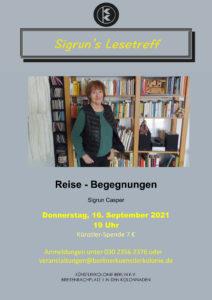 Sigrun's Lesetreff - Reise-Begegnungen @ KunstRaum der Künstlerkolonie Berlin