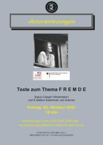 Autorenlesungen zum Thema F R E M D E @ KunstRaum der Künstlerkolonie Berlin