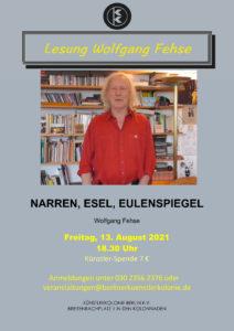 Lesung Wolfgang Fehse @ KunstRaum der Künstlerkolonie Berlin