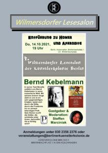 Wilmersdorfer Lesesalon @ KunstRaum der Künstlerkolonie Berlin