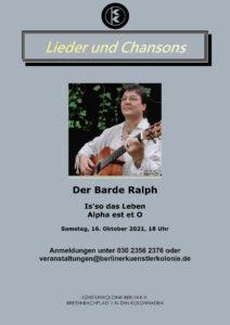 Lieder und Chansons @ KunstRaum der Künstlerkolonie Berlin