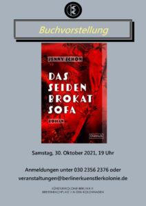 """Buchvorstellung """"Das Seidenbrokatsofa"""" @ KunstRaum der Künstlerkolonie Berlin"""